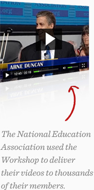 The National Education Association used the Workshop to deliver their videos to thousands of their members.